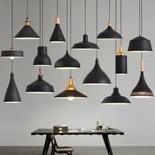 Retro tavanda asılı lambaları alüminyum E27 kolye ışıkları, ev yemek odası dekorasyon ışıklandırma