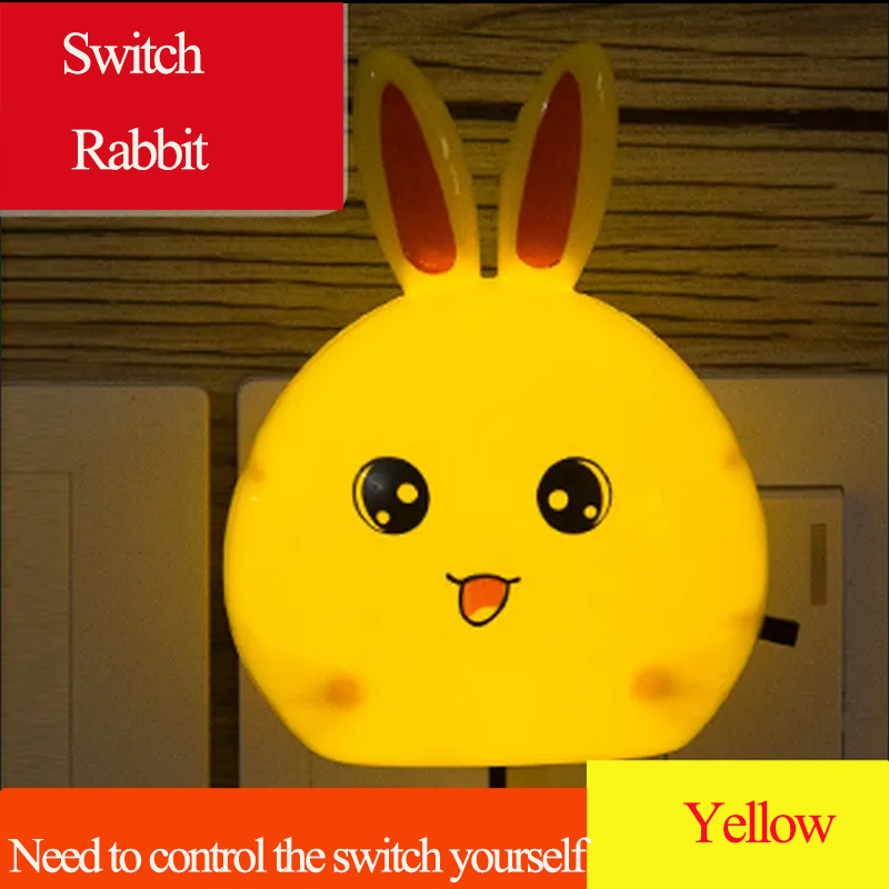 Indoor Cute Animals LED Night Light Light Sensor Switch AC110-240V Wall Lamp Decorative Wall Light For Bedroom Baby Kids Gift
