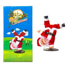 Christmas Decorations Upside-down Street Dance Santa Claus Electric Music Toys for Children