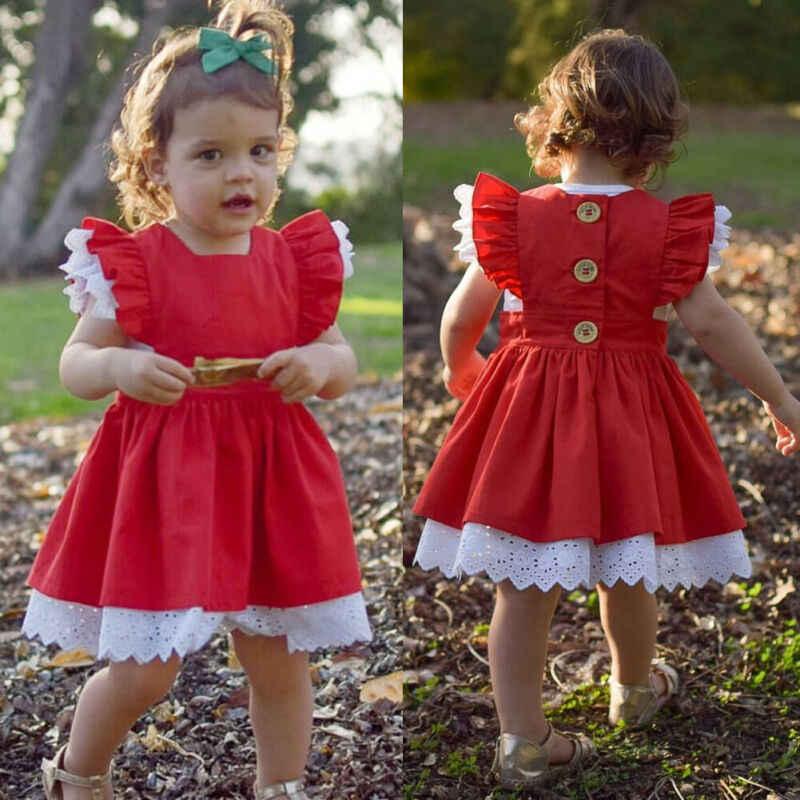Vestido infantil feminino, irmã combinando roupa criança menina macacão vestido de natal roupas babados de renda manga liso corte em linha a vestido ou macacão