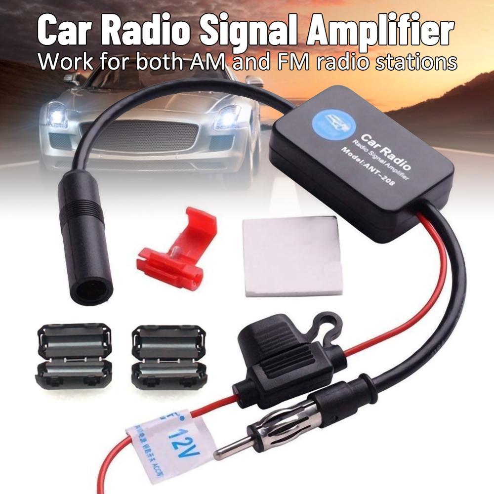 Автомобильная стереосистема FM & AM, антенна радиосигнала, усилитель сигнала, универсальный автомобильный радиоприемник, усилитель сигнала FM...