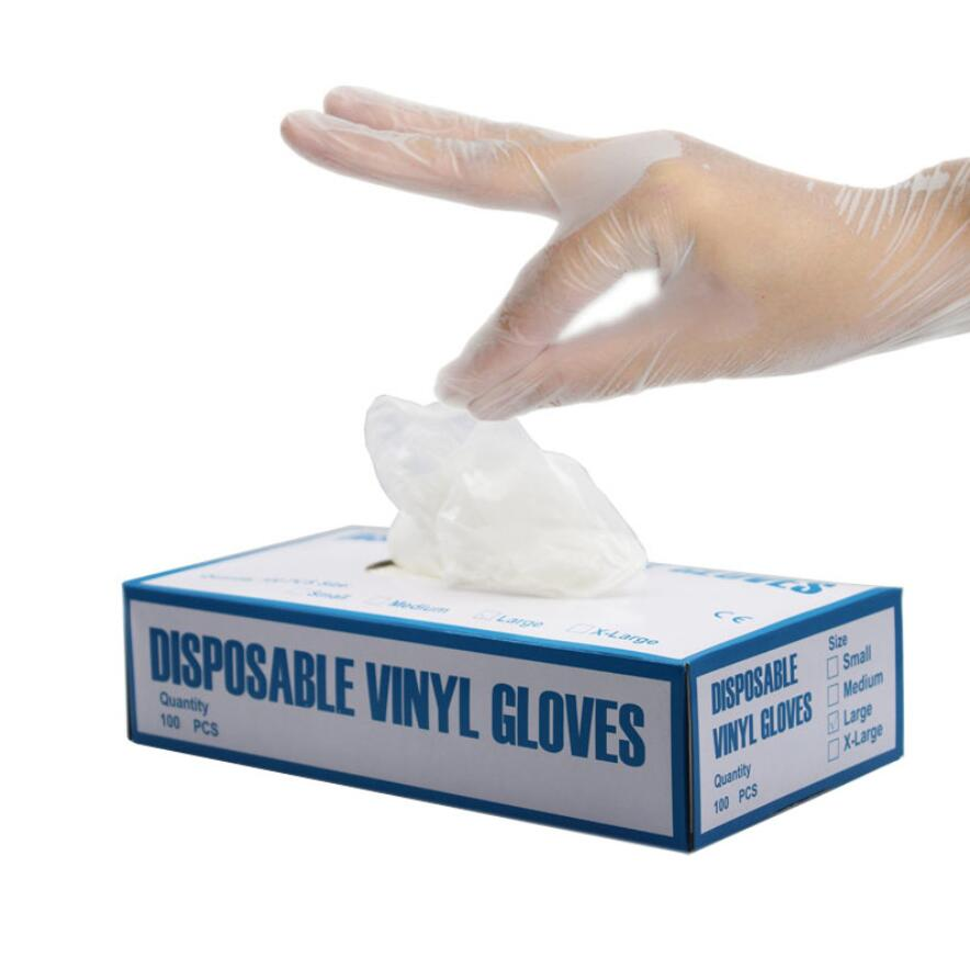 100pcs Disposable Gloves Transparent Nitrile Industrial Oil-proof Wash Dishes Nitrile Gloves Prevention Not Antivirus