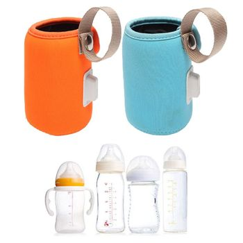 USB Baby Bottle Heating Cover Anti-scalding Anti-slip Insulation Bag Car Portable Milk Warmer G99C image