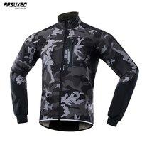 2019 男性の冬の熱ソフトシェルサイクリングジャケット防風防水バイクジャケット MTB コート自転車衣類反射 BG011