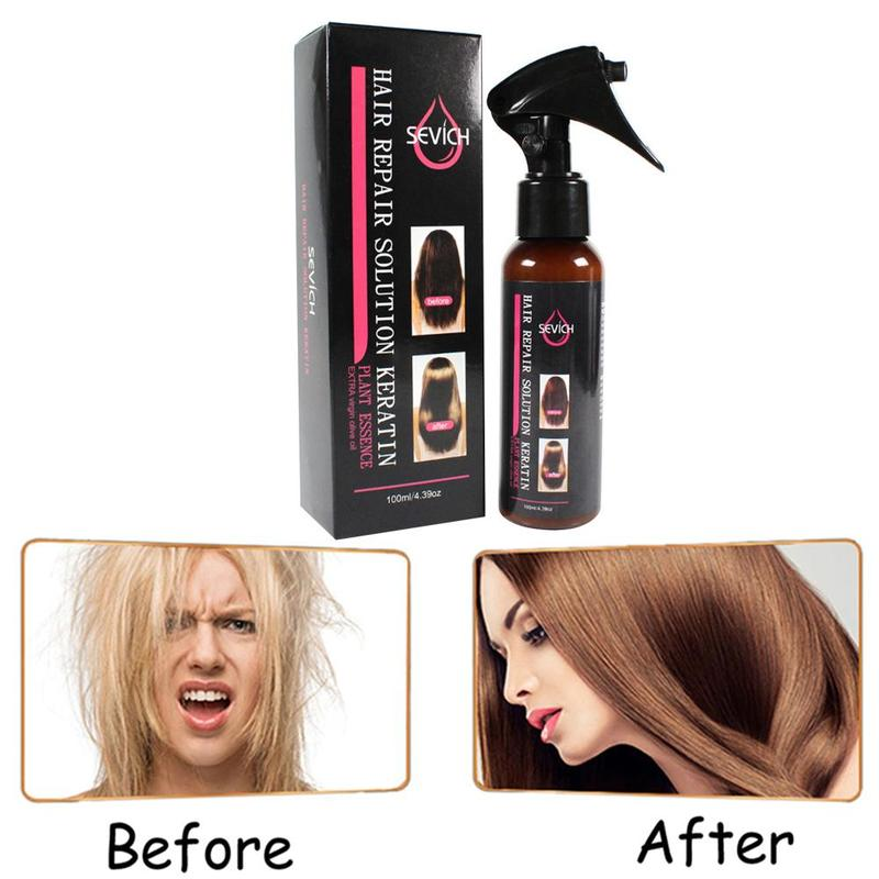 100ml Smoothing Spray To Repair Dyeing Ironing Damaged Hair Care Essential Oil Prevents Frizz And Makes Hair Silk Shine 6