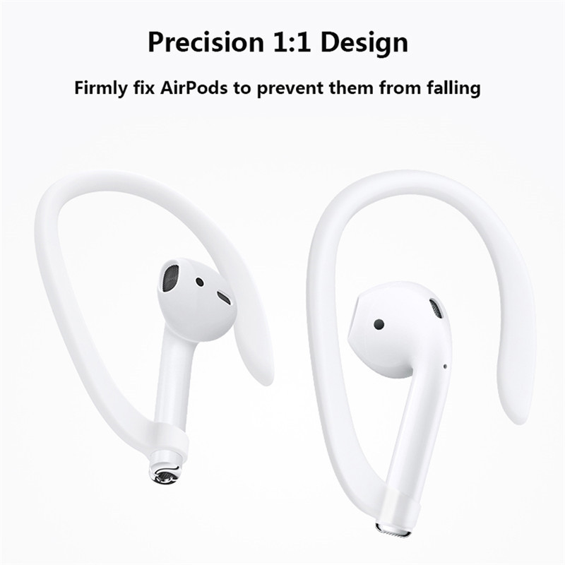 1 Pair Protective Earhooks Holder Secure Fit Hooks For Apple Airpods Headphone Earphone Anti-lost Silicone Earhook Cover