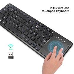 Bezprzewodowa klawiatura z panelem dotykowym wersja francuska dla H96 TV Box z androidem francuski klawiatura Bluetooth dla Tablet komputer stacjonarny