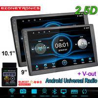 """9 """"10,1"""" Android Car reproductor Multimedia Autoradio GPS Bluetooth WIFI coche Radio estéreo de enlace 2Din de Audio de coche cámara de Radio OBD2"""