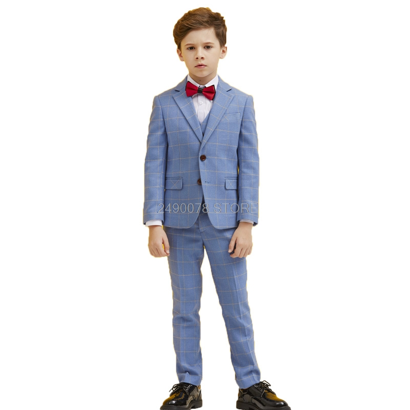 Suit Prom-Piano Costume Pants Jacket Dance-Performance-Clothes Flower Boys Kids Children
