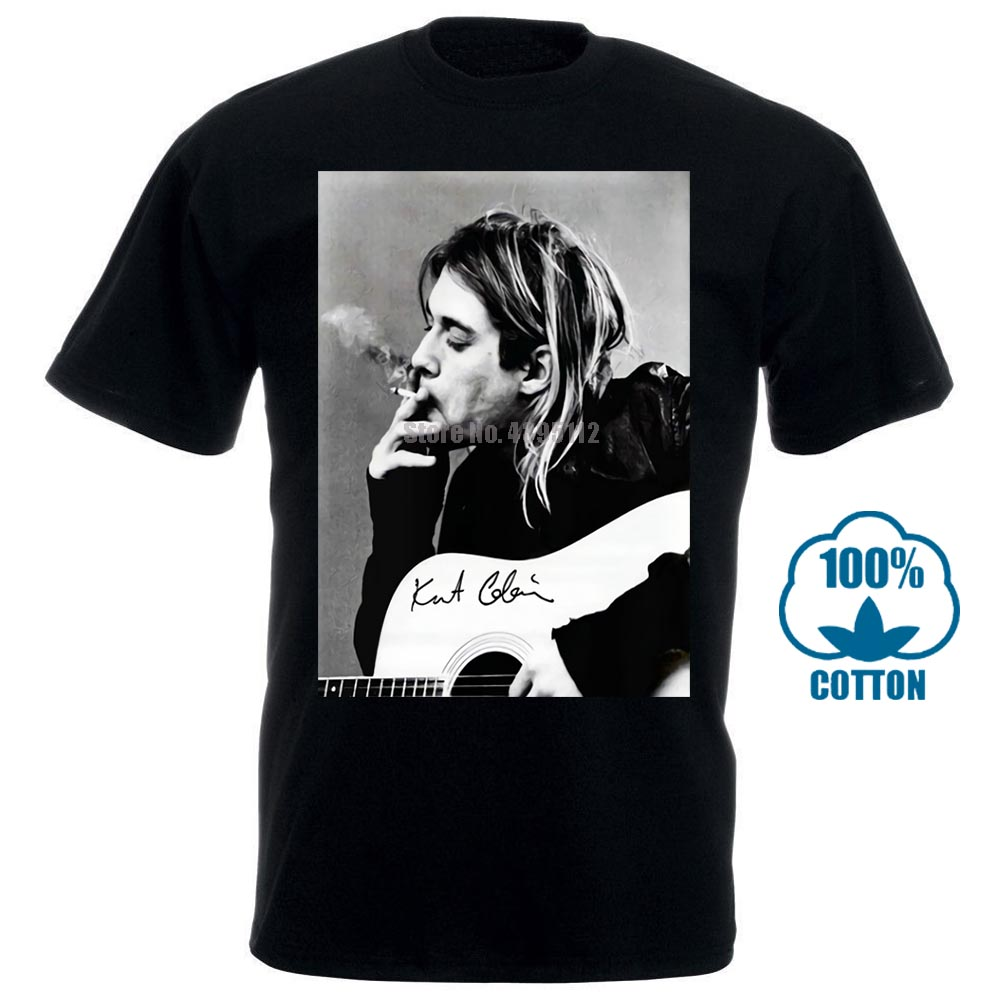 Kurt Donald Cobain Black T Shirt Tee Shirt Xs 2Xl 012564
