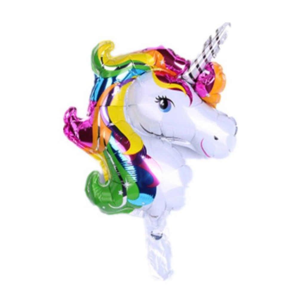 Mini ขนาดบอลลูนวันเกิดบอลลูนเค้ก Rainbow Unicorn บอลลูนเจ้าหญิง Balon บอลลูนปาร์ตี้