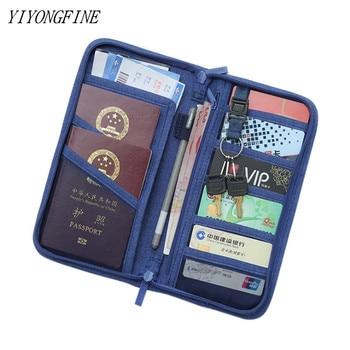 YIYONGFINE Travel Journey Document Organizer Wallet Passport ID Card Holder Ticket Credit Bag Case Accessories