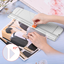 Plastic Base Paper Cutter Paper Photo Trimmers Scrapbook Trimmer Cutting Mat Machine Office Work Cutting Supplies for A4 Paper