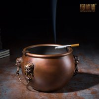 Copper master all copper Imperial Palace jar home living room tea table large decoration personalized Brass Ashtray
