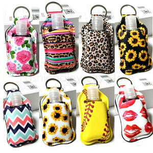 Containers Bottles Keychain-Carrier Refillable Hand-Sanitizer 30ml with Flip-Cap