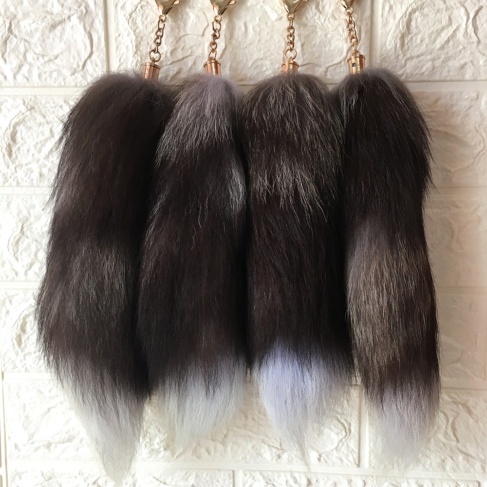 Fox Fur Tail Tassel Bag Tag Handbag Pendant Accessory Key Chain Keyring
