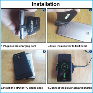 Image 5 - Wireless Charging for Huawei Honor 9 10 20 30 Pro 20s V30 9X Pro Qi Wireless Charger+USB Type C Receiver Adapter Gift TPU Case