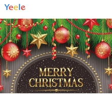 Yeele Christmas Photocall Ins Wood Balls Decor Star Photography Backdrops Personalized Photographic Backgrounds For Photo Studio
