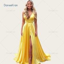 Сексуальное платье с v образным воротом Блестящие Золотые желтые