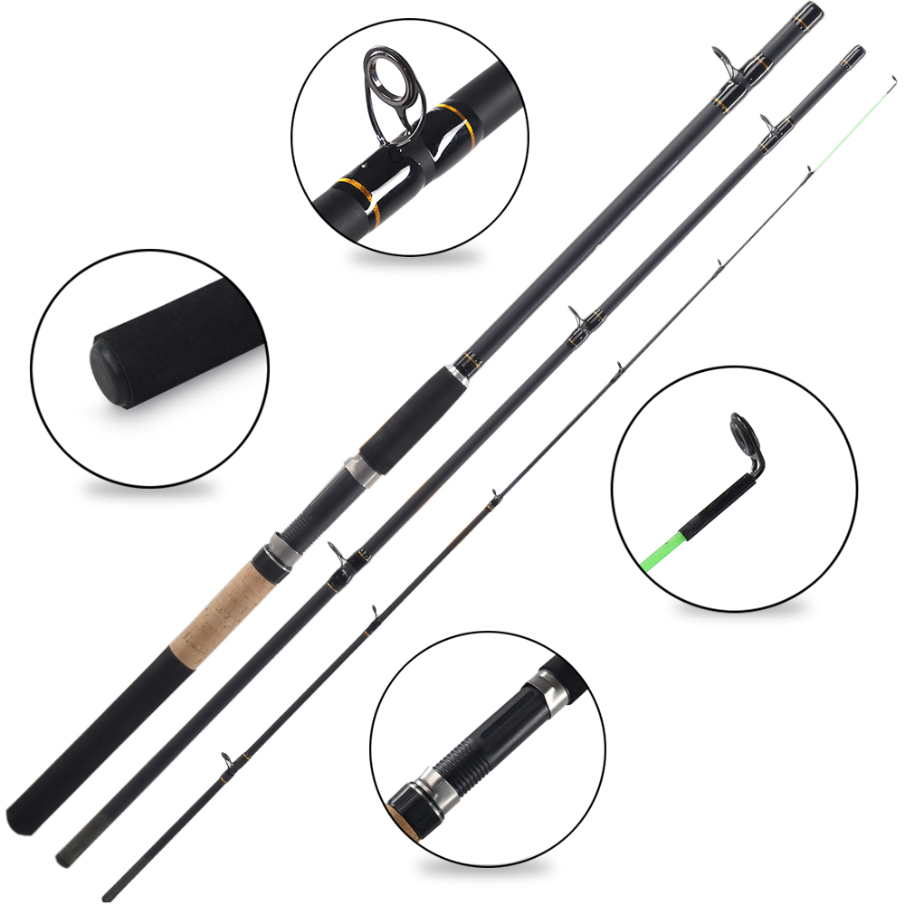 Feeder High Glass Super Power 3 Sections 2.7M 3.0M 3.3m L M H Lure Weight 40-120g Feeder Fishing Rod Feeder Rod