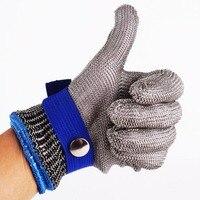 장갑 낚시 안티 컷 레벨 5 보호 장갑 안전 컷 증거 찌르기 방지 스테인레스 스틸 금속 메쉬 정육점 증거 장갑