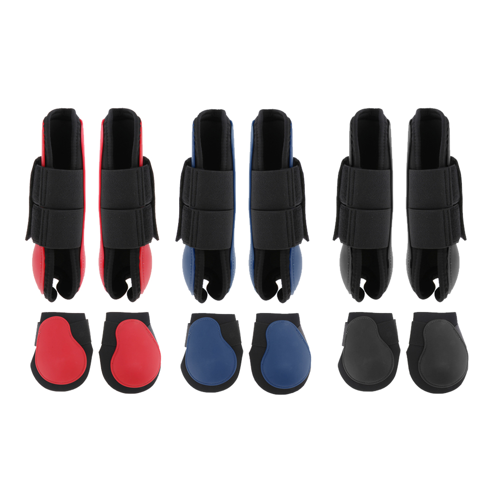 1 Pair Professional Equine Horse Horse Exercise Jumping Boots, Tendon Leg Support Boots For Training, Riding, Eventing