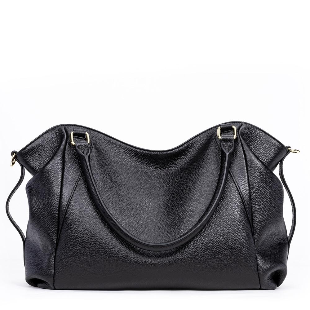 Image 4 - GIONAR Genuine Leather Bag Women Famous Brand Luxury Handbags  Designer 2019 Crossbody Shoulder Work Bag Over the ShoulderTop-Handle  Bags