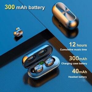 Image 2 - B5 tws display led bluetooth 5.0 fones de ouvido sem fio esportes à prova dmini água mini fones com microfone caixa carregamento