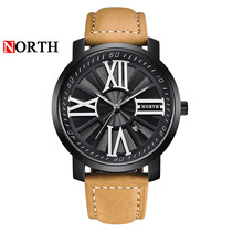 2019 Retro Design Leather Band Watches Men Top Luxury Brand High Quality Casual Sports Clock Analog Quartz Wrist