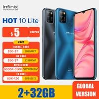 Infinix-teléfono inteligente 10 Lite versión Global, 2GB y 32GB, pantalla HD de 6,6 pulgadas, batería de 5000mAh, Triple Cámara ia de 13MP