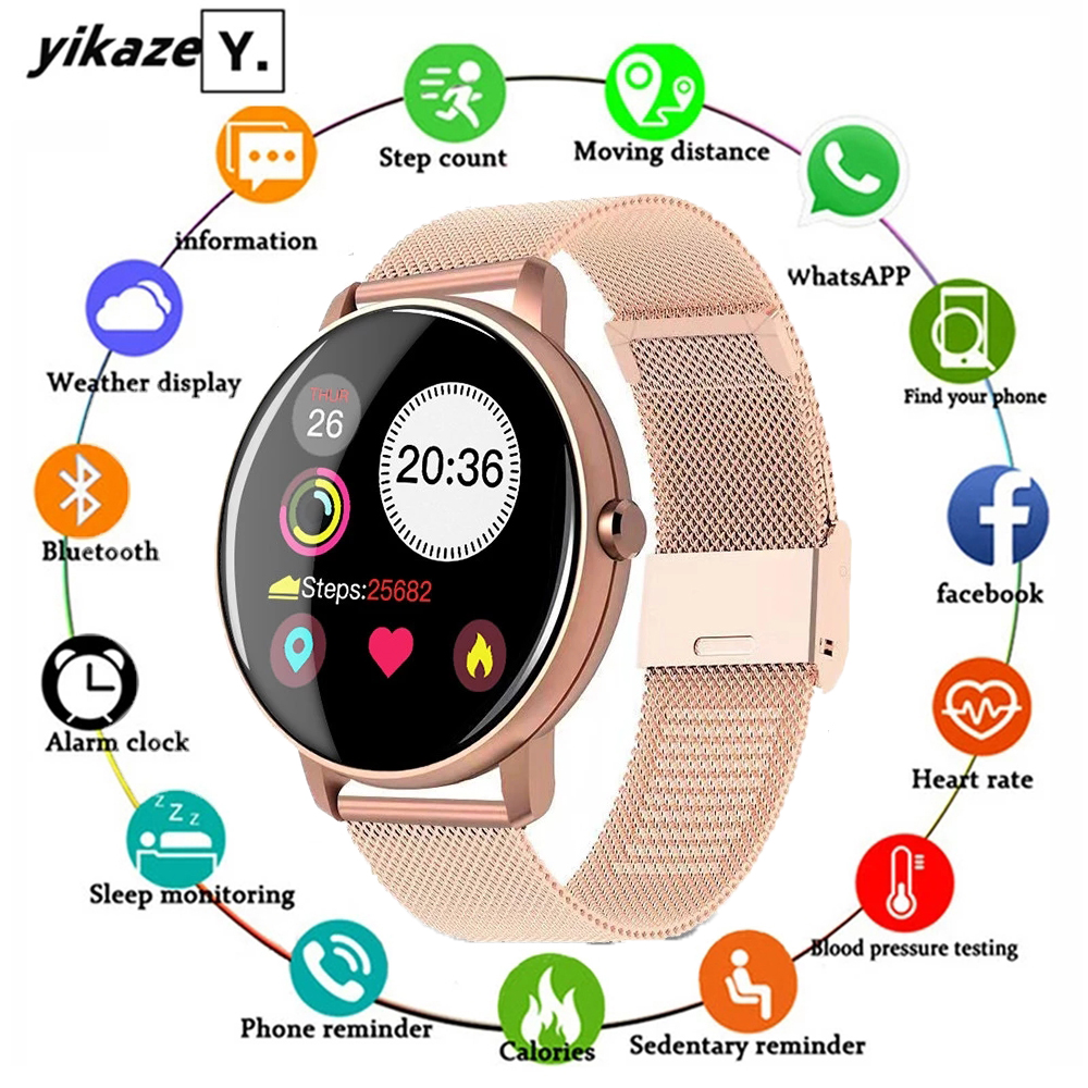 2020 Full Touch Smart Watch Men Blood Pressure Heart Rate Monitor Round Smartwatch Women Waterproof Sport 2020 Full Touch Smart Watch Men Blood Pressure Heart Rate Monitor Round Smartwatch Women Waterproof Sport Clock For Android IOS
