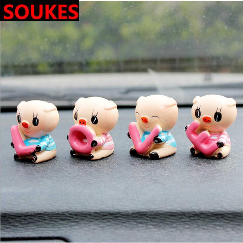 愛車かわいい豚のおもちゃ漫画のジュエリーギフトシュコダオクタためA5 A7 2ファビアイエティbmw E60 F30 x5 E53 inifiniti accessori