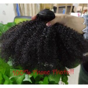 Image 5 - 아프리카 곱슬 곱슬 머리 직조 1 2 3 6 9 번들 거래 레미 헤어 100% 인간의 머리카락 확장 8 20 인치 자연 색상 자린 헤어 벌크