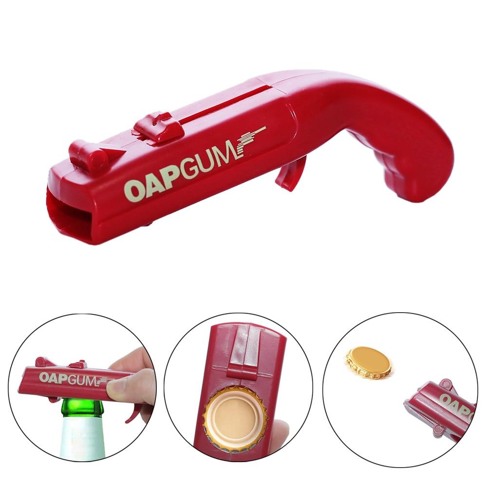 Портативная Кепка пистолет, креативная Летающая Кепка, пусковая установка, открывашка для пивных бутылок, инструмент для открывания напитков, бутылка в форме крышек, шутер, красный, серый|Открывалки|   | АлиЭкспресс