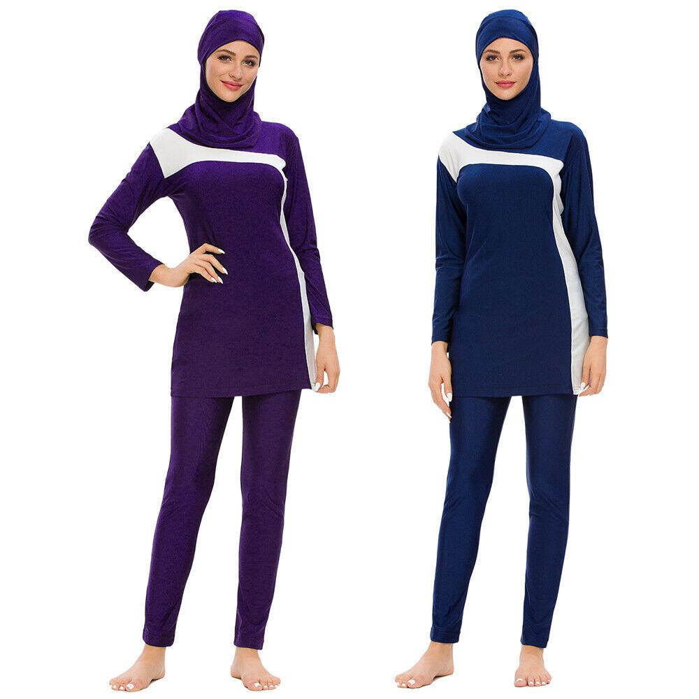 Modest Muslim Women Swimsuit Islam Swimwear Arab Beachwear Burkini Swim Costume