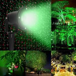Wasserdichte Outdoor Garten Projektor R & G Sterne Laser Weihnachten Licht w/Remote u