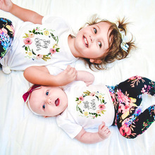 1pcs Big /little Sister Family Matching Outfit Short Sleeve Kids T Shirt Baby Bodysuit Jumpsuit Sisters Funny Clothes