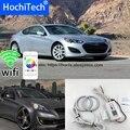 HochiTech Ausgezeichnete RGB Multi-Farbe halo ringe kit auto styling für Hyundai Genesis Coupe 2010-14 engel augen wifi fernbedienung