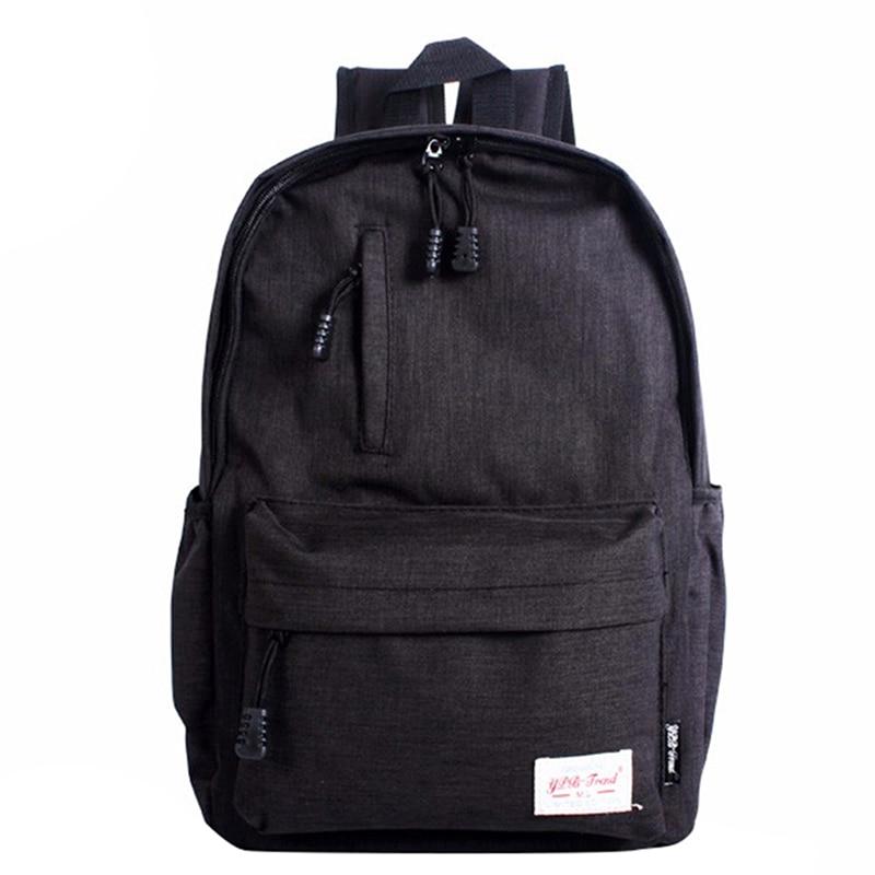 Linen Small Backpack Unisex School Bag For Teenage School Backpack For Students Backpacks Rucksack Bookbags Travel Bag, Black