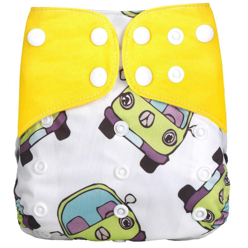 [Simfamily] 1 шт. многоразовые тканевые подгузники, регулируемые детские подгузники, моющиеся подгузники, подходят для 3-15 кг детские подгузники - Цвет: NO19