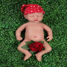 IVITA WG1507 46 سنتيمتر 3.2 كجم فتاة عيون مغلقة عالية الجودة كامل الجسم سيليكون حية تولد من جديد دمى طفل juguدر boneca مع الملابس