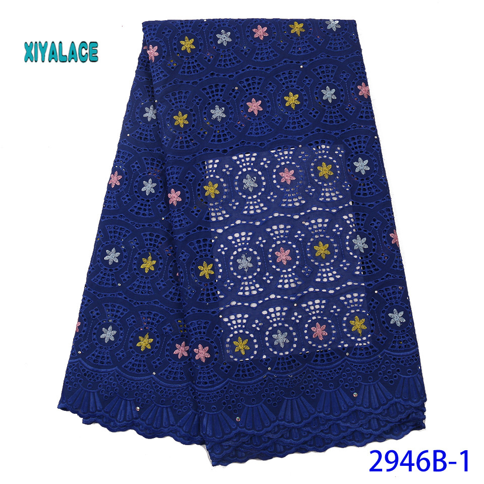 2019 African Lace Embroidered High Quality Switzerland Lace Ftench Lace Agrican Net Fabric French Bridal Lace For Dres YA2946B-1