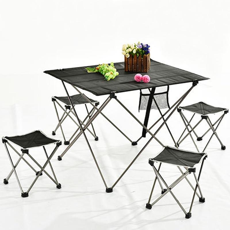 Portable Folding Table For Outdoor Furniture Aluminium Alloy Camping Table Picnic Folding Table Barbecue Garden Computer Desk