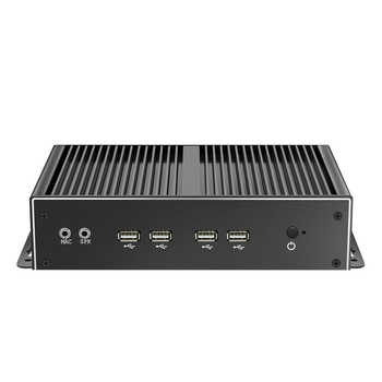 Fanless Industrial Mini PC Intel Core i7 4500U i5 4200U Windows 10 Linux 6xRS232 RS485 Dual NIC HDMI VGA 4G LTE WiFi 8xUSB