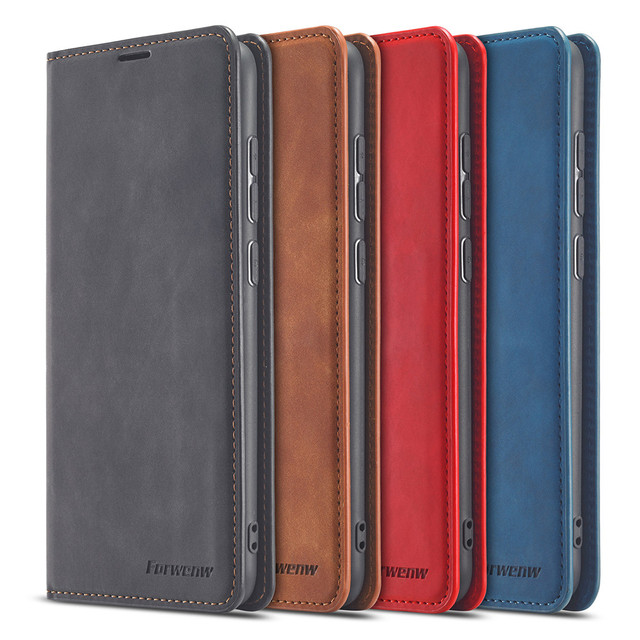 Leather Flip Case For Xiaomi Poco X3 M3 F3 11i 10T Lite Redmi Note 10 9 S 9A 9C 9T  8 7 Pro Max Wallet Cards Stand Phone Cover 6