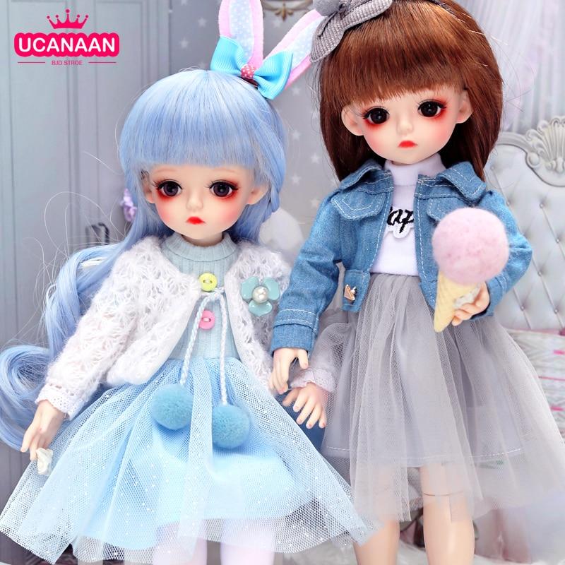 UCanaan 1/6 BJD Puppe 30CM 18 Ball Gelenke Puppen Mit Voller Outfits Kleidung Set Perücke Make-Up Handgemachte Schönheit Spielzeug geschenke Für Mädchen
