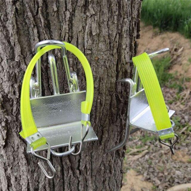 Edelstahl Fünf Krallen Baum Klettern Werkzeug Pol Klettern Spikes für Jagd Beobachtung Picking Obst Starke Last Kapazität