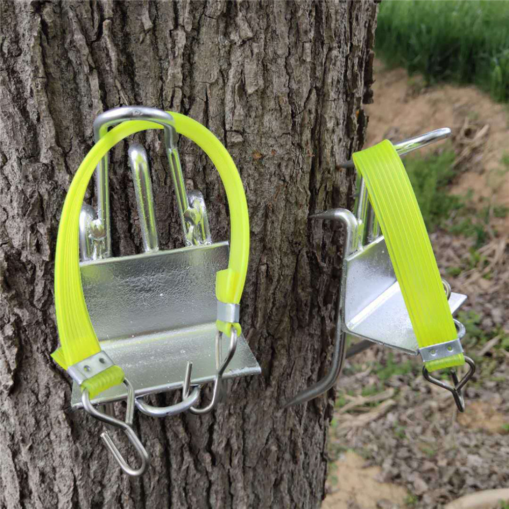 Stainless Steel Five Claws Tree Climbing Tool Pole Climbing Spikes For Hunting Observation Picking Fruit Strong Load Capacity