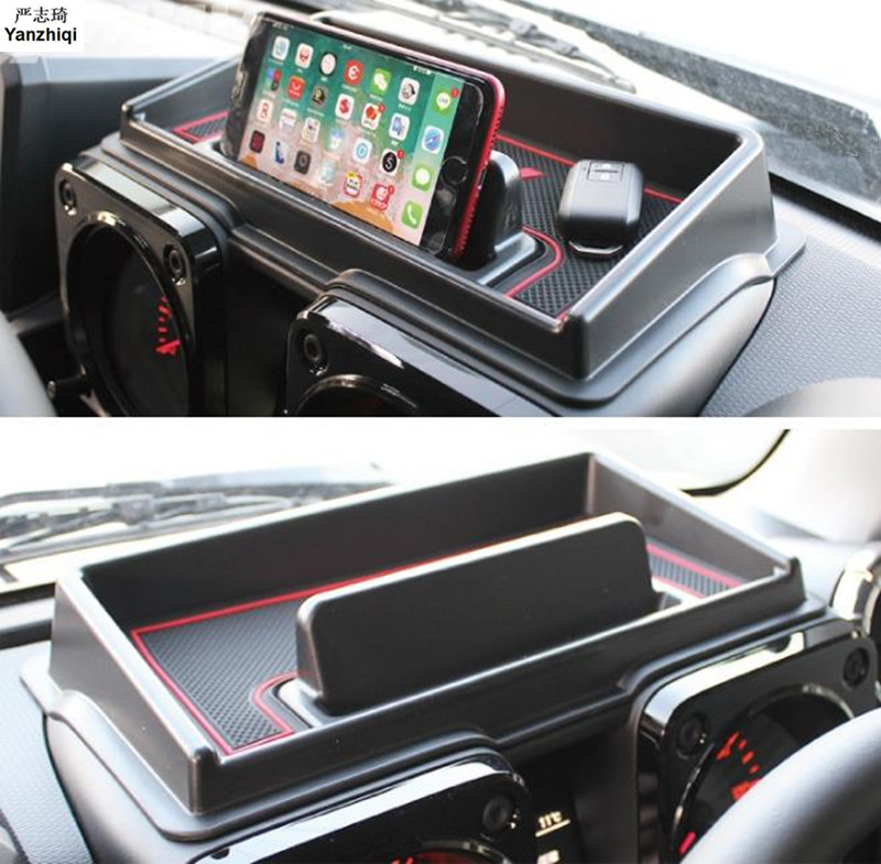 Car Dashboard storage box For Suzuki Jimny 2019 Interior Accessories Multifunction Non-slip Phone Stand Console Tidying