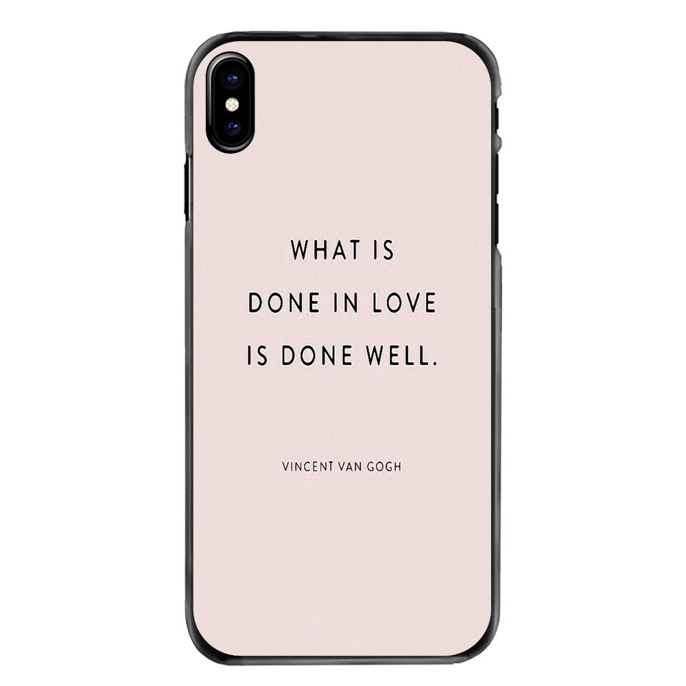 Hard Phone Case For Sony Xperia X XA XZ M2 M4 M5 C3 C4 C5 T3 E4 E5 Z Z1 Z2 Z3 Z5 Compact What is done in love is done well Print image